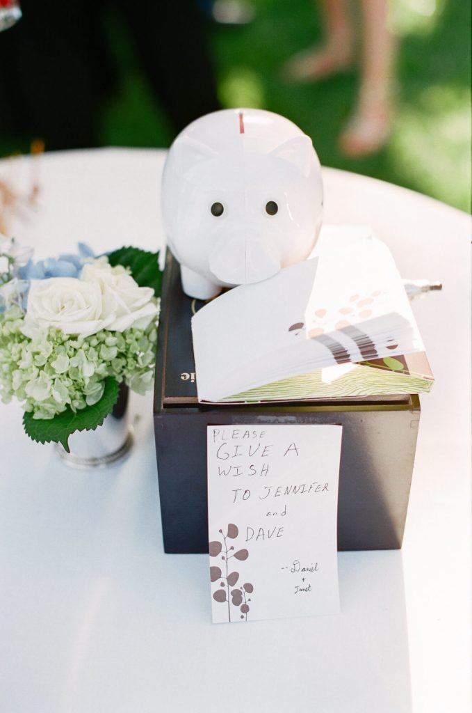 decorative notebox for bride and groom during pacific palisades wedding