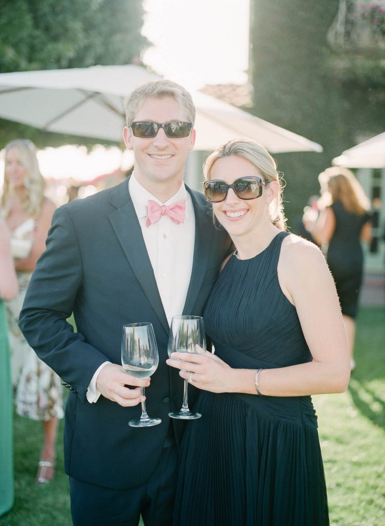 guests in formalwear at laughton estate wedding