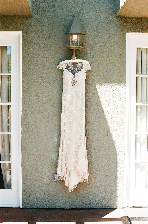 claire pettibone gown hanging l'auberge del mar