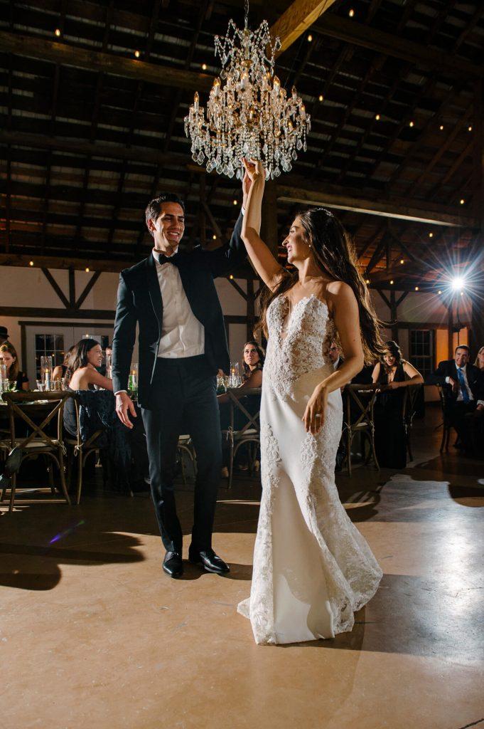 bride groom first dance stable great marsh estate wedding reception