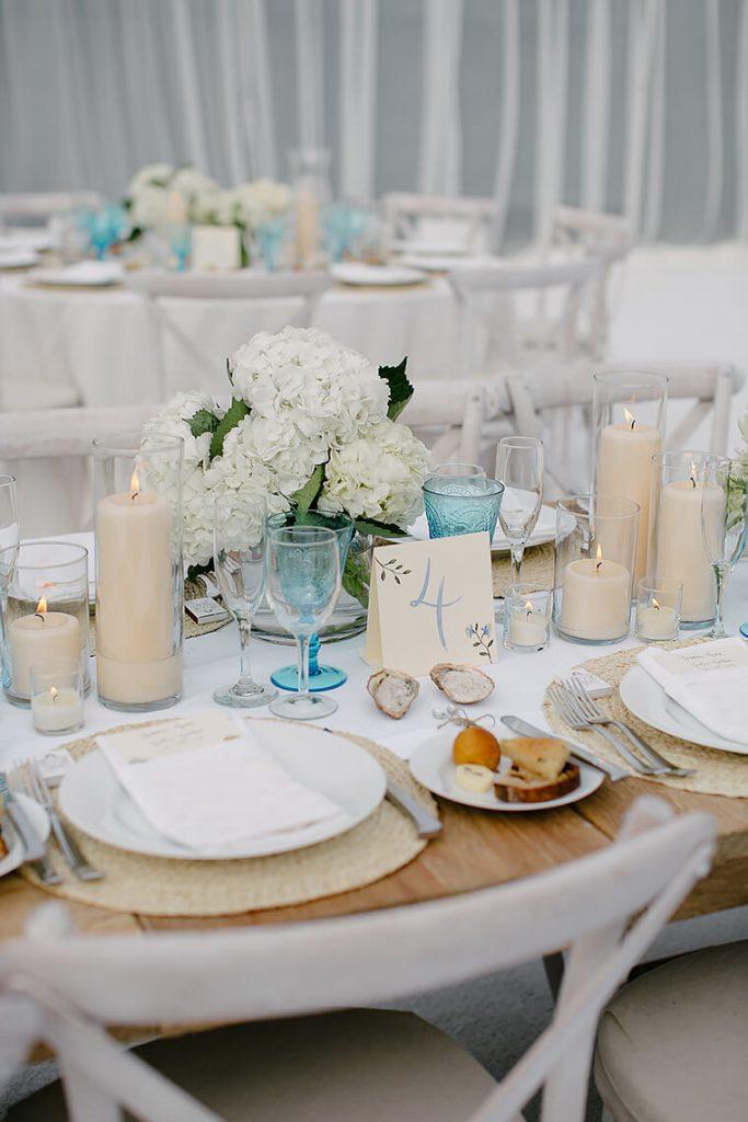 table setting st malo beach wedding