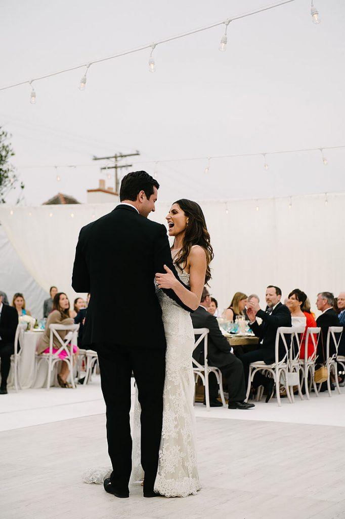bride and groom first dance st malo beach wedding