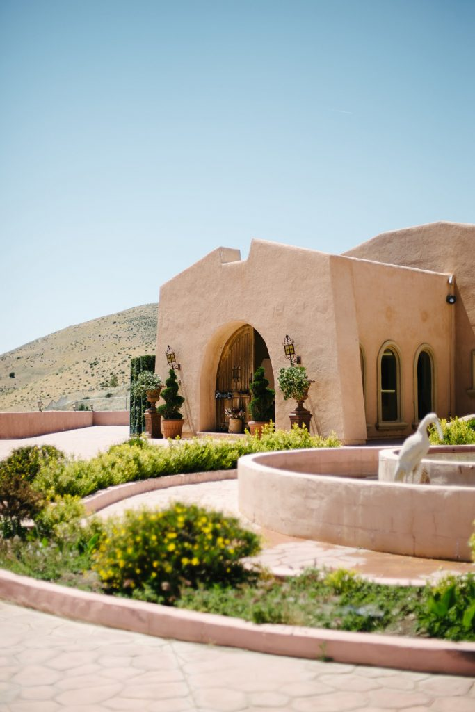 high desert estate wedding venue exterior