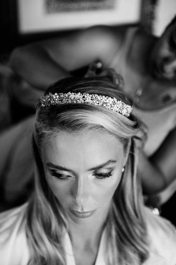 bride with diamond tiara