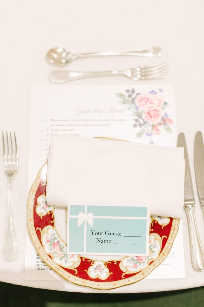 place setting vintage china tea party bridal shower westgate hotel