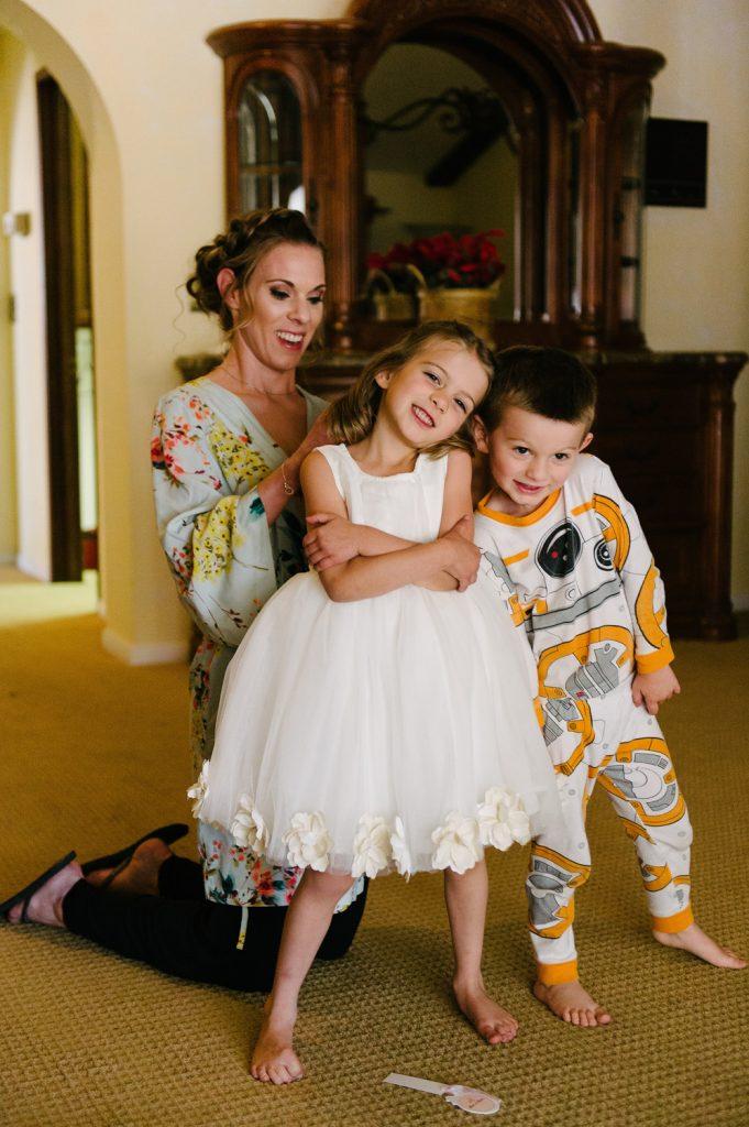 flowergirl bridesmaid ringbearer pajamas