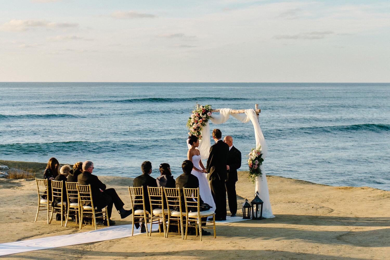 sunset cliffs intimate ceremony