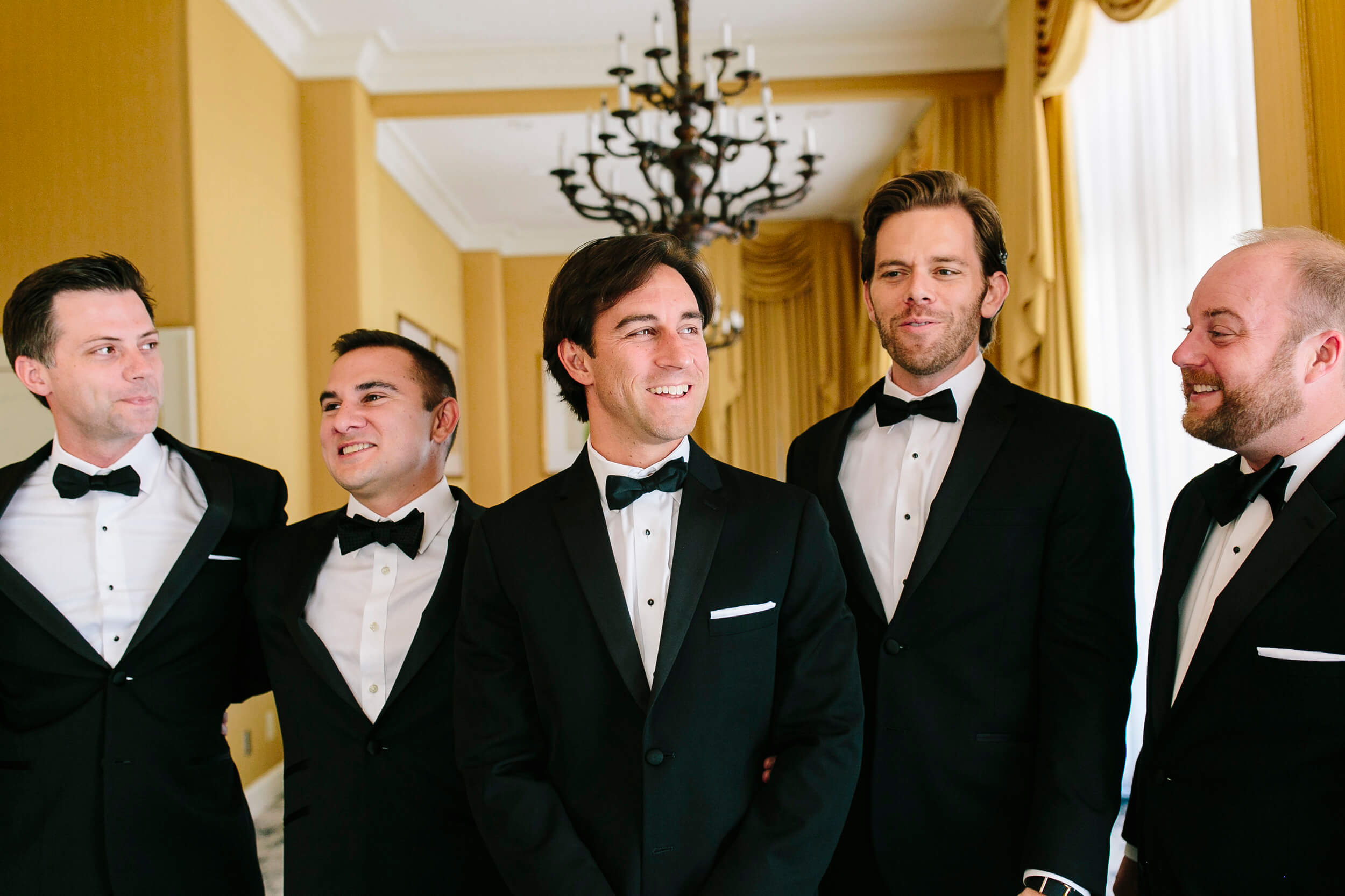 groom and groomsmen tuxedos