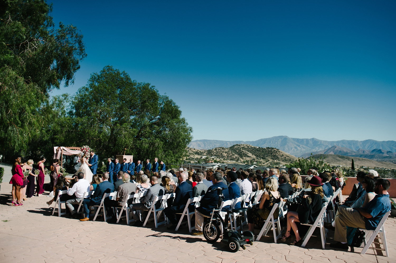 ceremony and guests high desert estate wedding