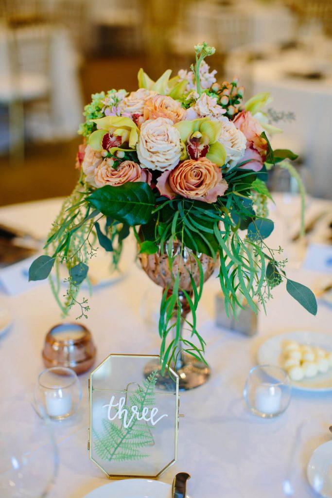 flower centerpiece dana mission bay wedding