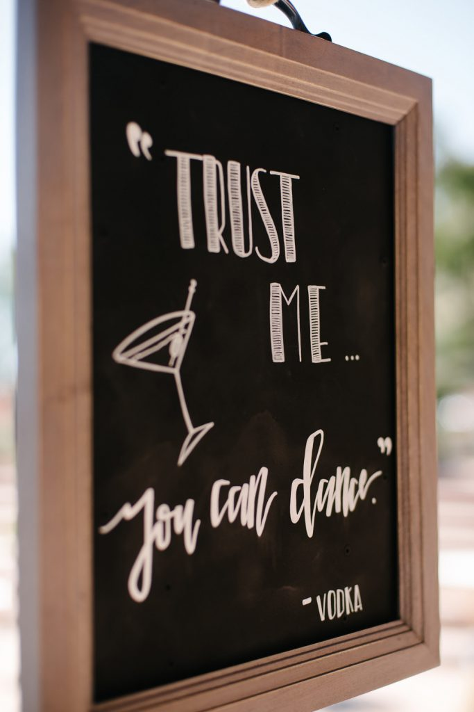 trust me you can dance vodka sign