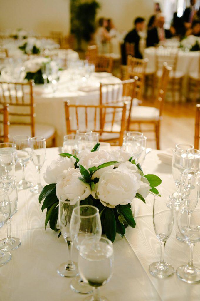 old english roses centerpiece womens club wedding la jolla