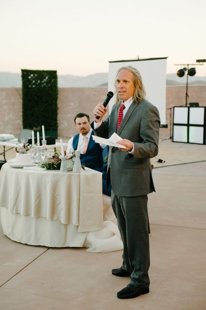 brides father toast high desert estate wedding