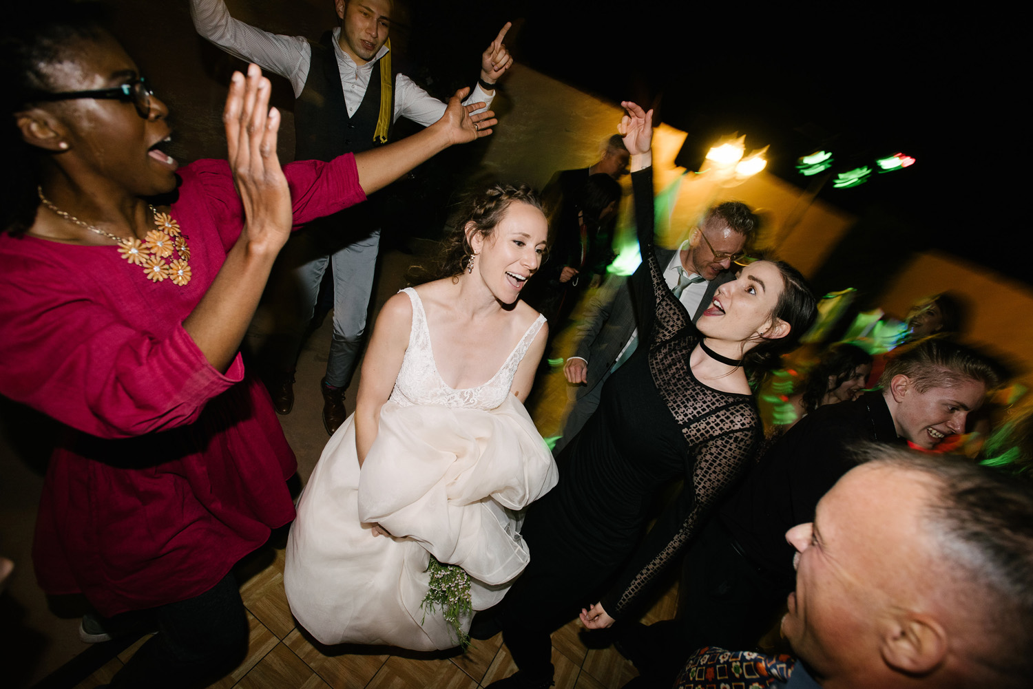 bride dance wedding guest high desert estate wedding