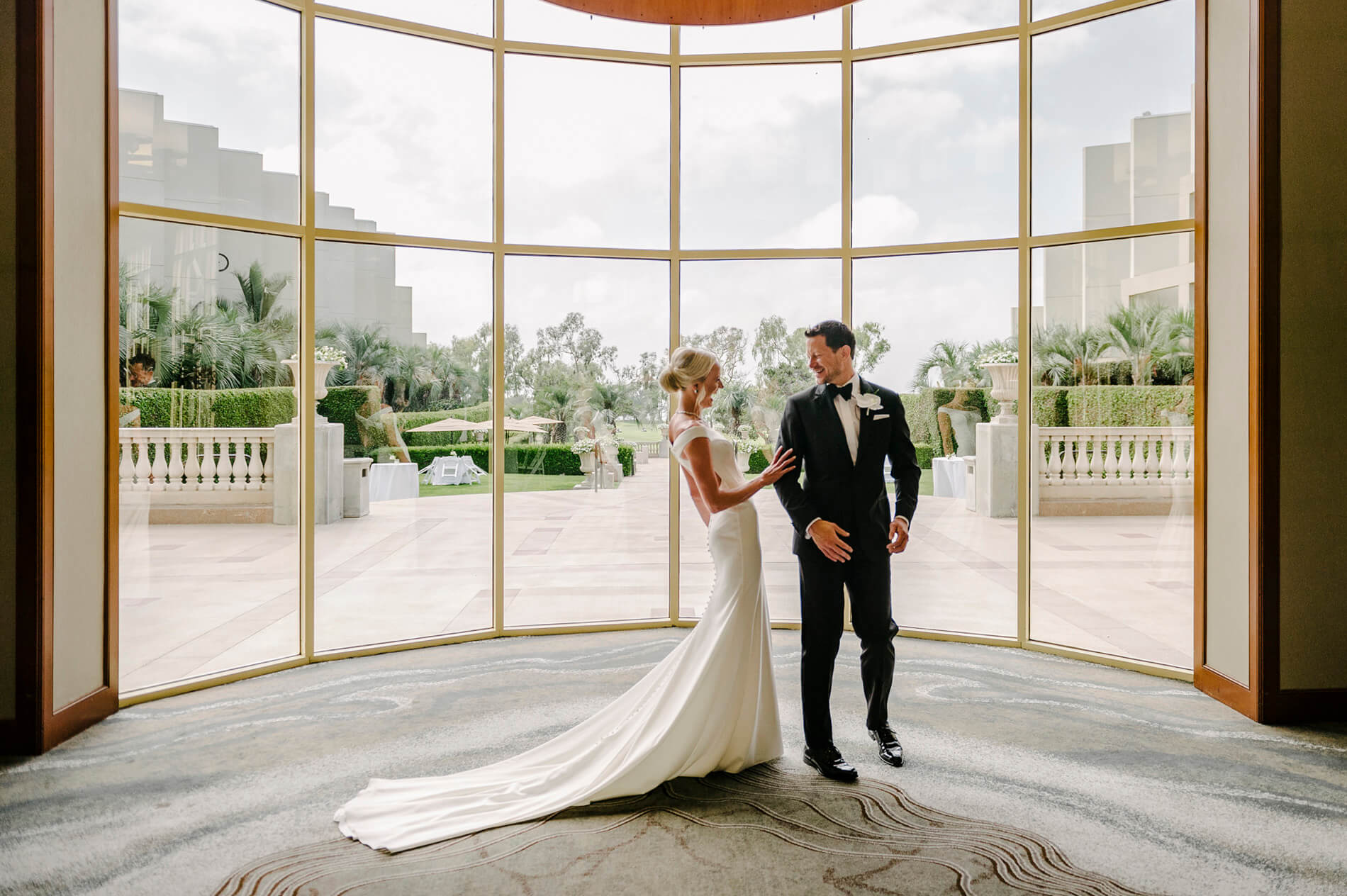 first look hilton torrey pines wedding