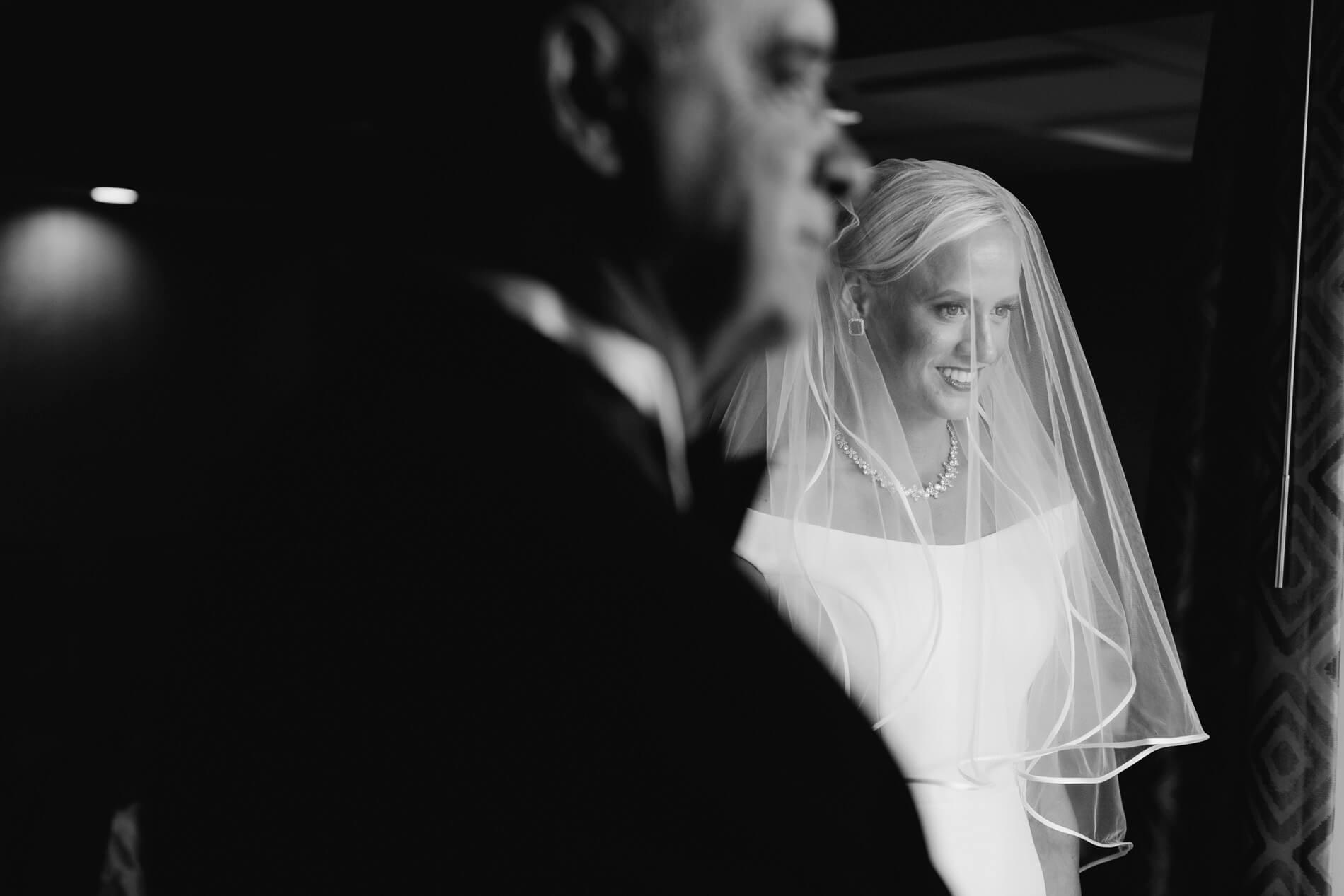 bride and father before elegant la jolla wedding hilton la jolla torrey pines