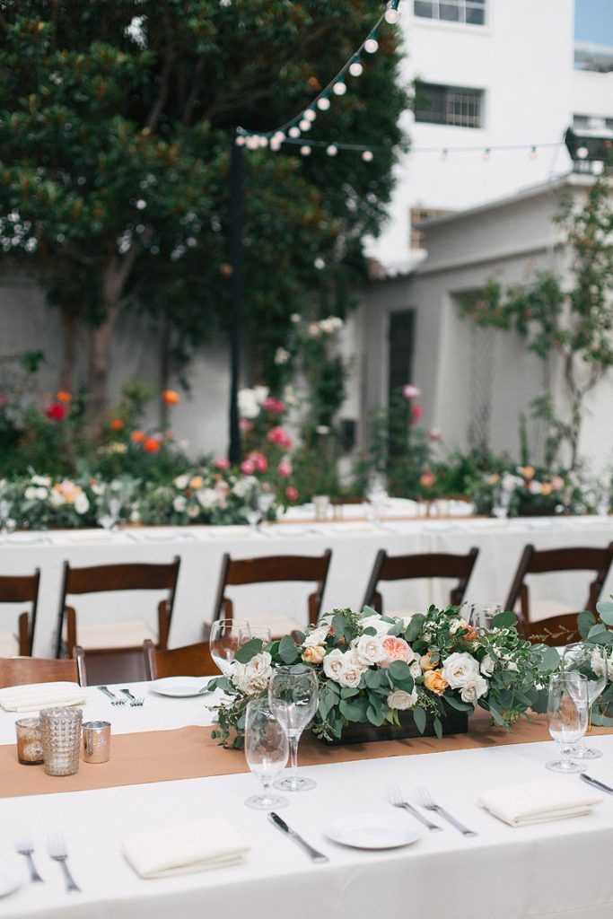 garden wedding reception darlington house la jolla