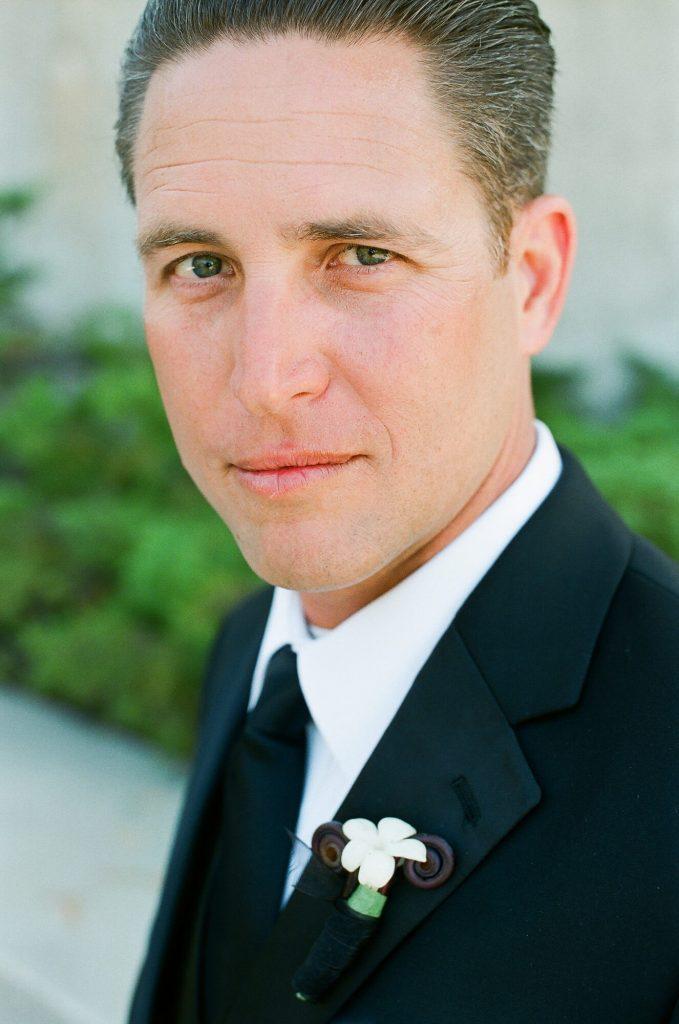 groom portrait at catalina island wedding