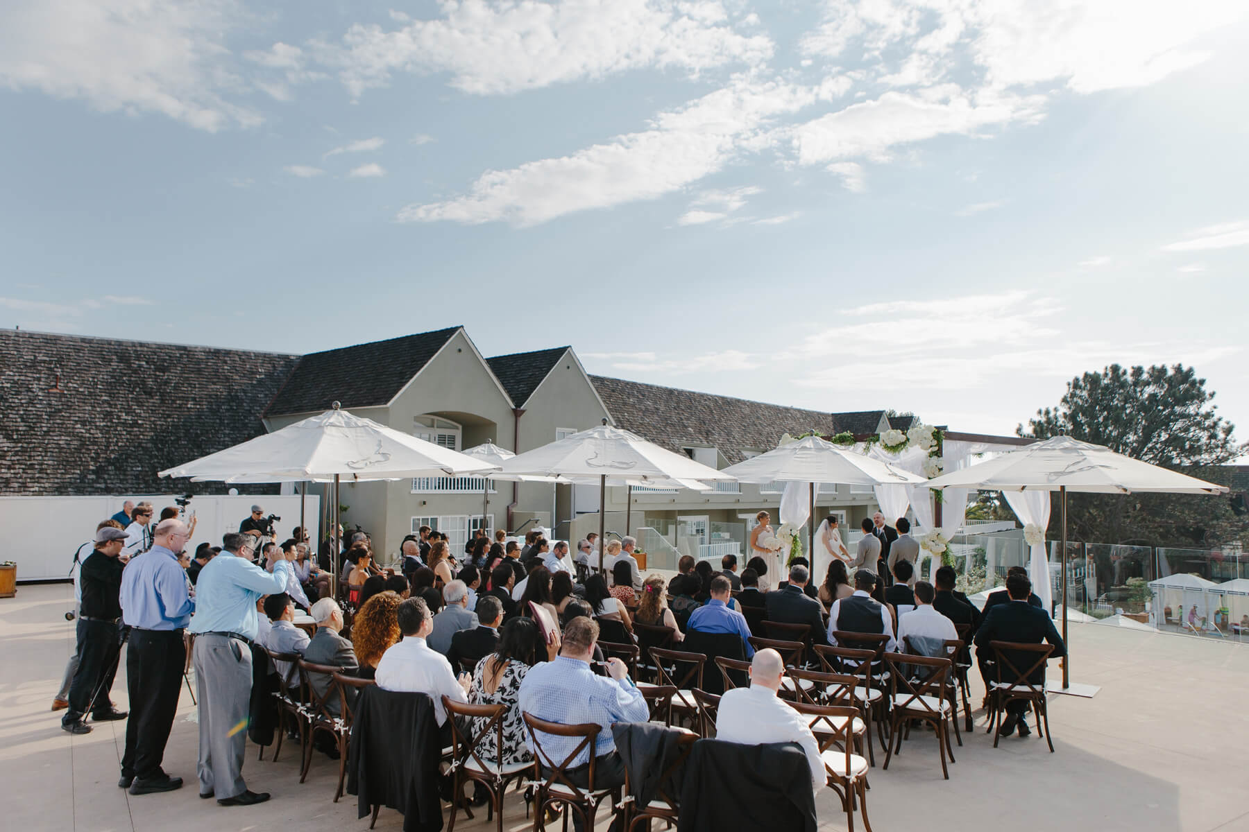 san diego beach wedding on pacific terrace at lauberge del mar