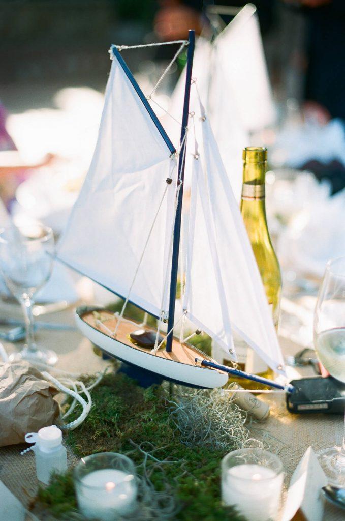 model sailboat centerpiece
