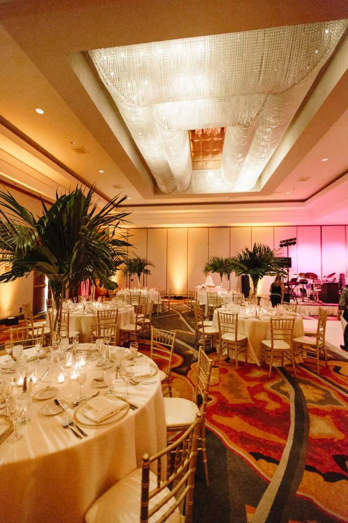 grand ballroom hilton la jolla wedding reception