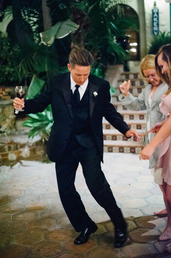groom dancing catalina island wedding