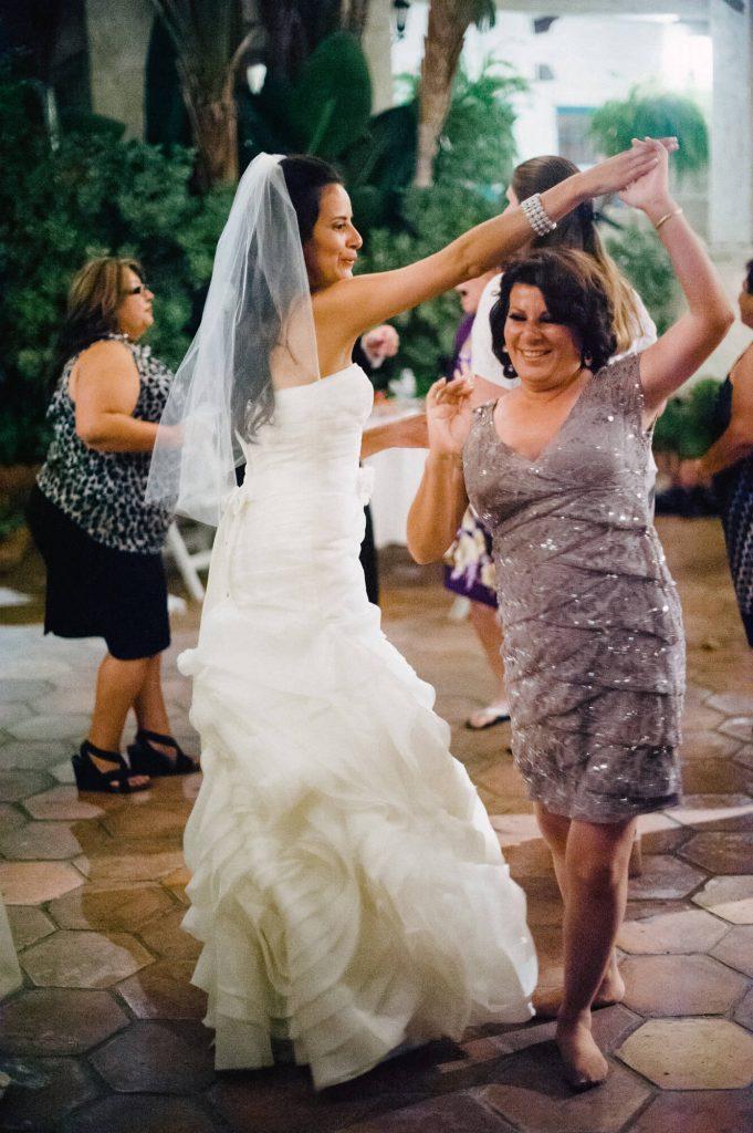 bride dancing with mother catalina island wedding