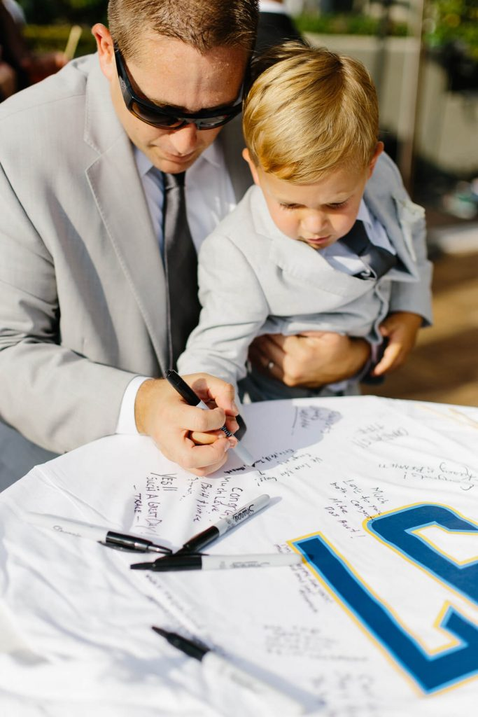 ring bearer signs custom chargers jersey guest book