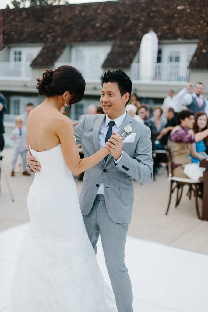 bride groom first dance pacific terrace lauberge del mar