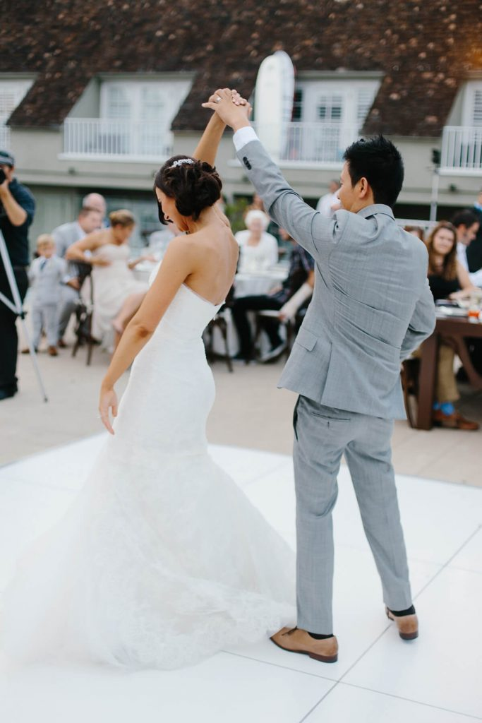groom spinning bride first dance lauberge del mar