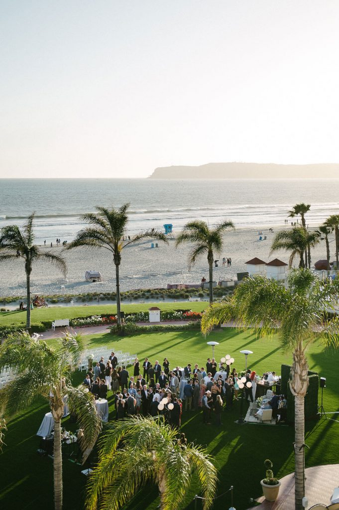windsor lawn cocktail reception same sex wedding hotel del coronado