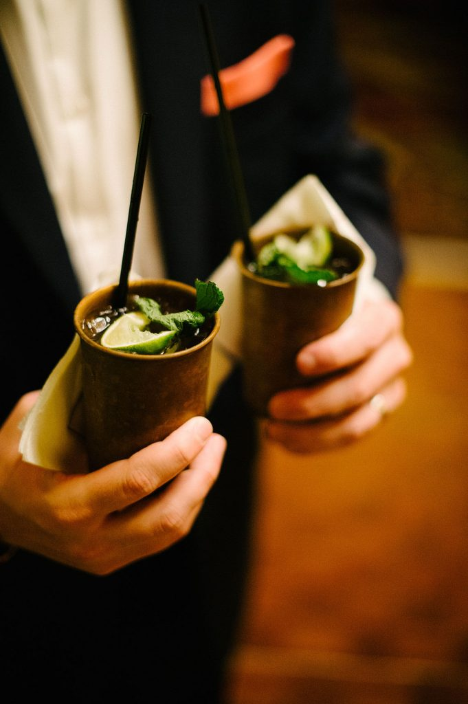 moscow mules in copper cups