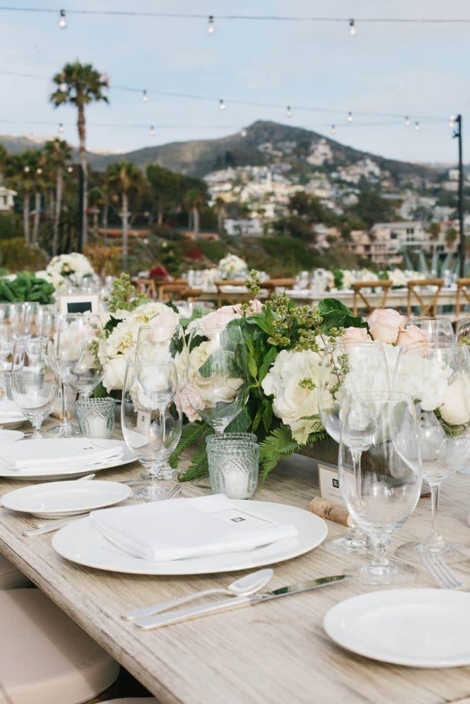 floral centerpiece studio restaurant reception montage laguna beach