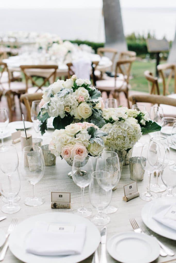 floral centerpiece montage laguna beach wedding