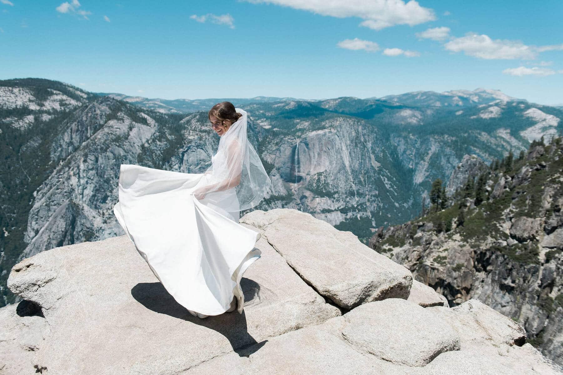 bride twirling dress taft point