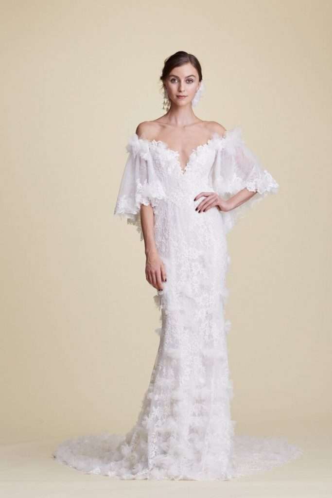 white flower bridal shop featured gown
