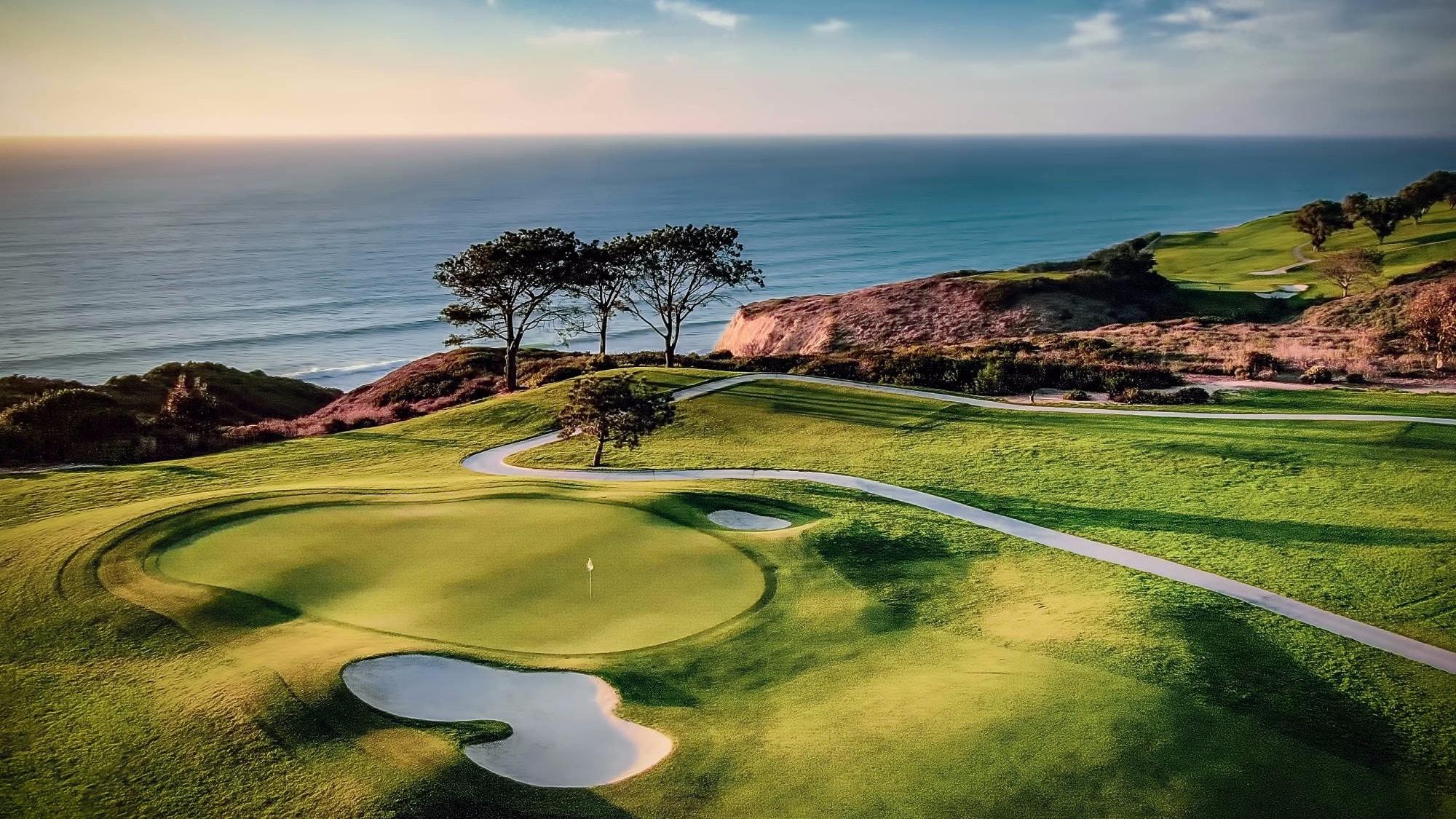 torrey pines golf course sunset